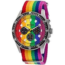 Be Pride Chronograph Multi-Color Canvas Strap Multi-Color Dial