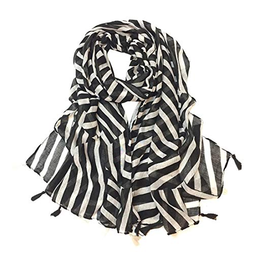 MALLTY Sciarpe Stampate Righe Scialli Mano Sciarpe Cravatta da Viaggio Scatti da Strada Ombrelloni da Spiaggia