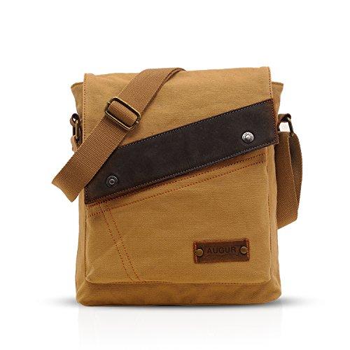 FANDARE Vintage Mensajero Messenger Bag Crossbody Bolso Bandolera Shoulder Bag Estudiante Viaje Trabajo Escuela Bolso Hombre Mujer Lona