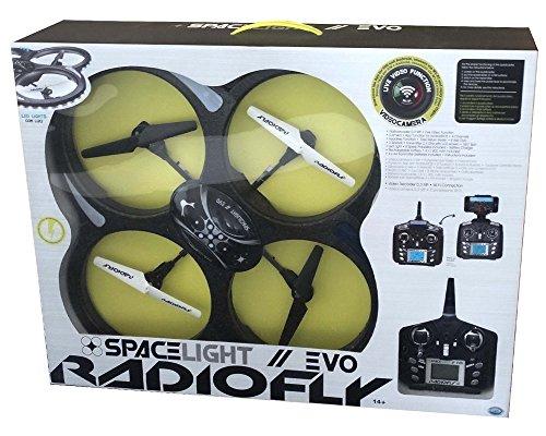 DSO ODS Radiofly - Space Light Evo // 60 - drones con cámara (Negro, Color blanco, Polímero de litio, AA)