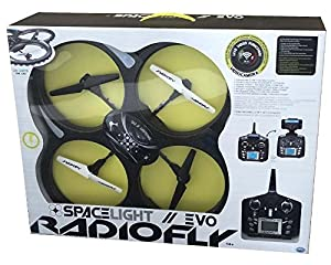 DSO ODS Radiofly - Space Light EVO // 60 - Drones con cámara (Negro, Color Blanco, Polímero de Litio, AA)