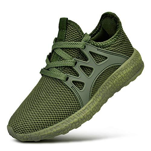ZACAVIA Unisex-Kinder Süß Running Laufschuhe Sportschuhe rutschfeste Sneaker Grün 34 EU