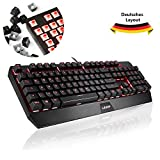 Gaming Tastatur, LESHP Mechanische Tastatur beleuchtete 105-Tasten Mechanical...