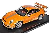 AUTOart Porsche 911 997 GT3 RS 4.0 Orange Silber 2004-2012 78148 1/18 Modell Auto mit individiuellem Wunschkennzeichen