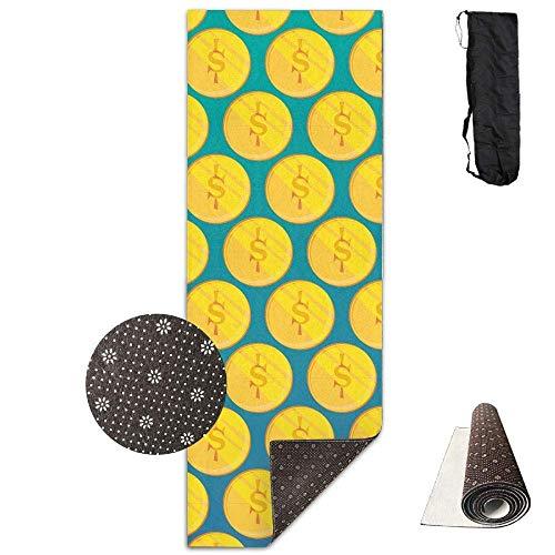 Traci kroll tappetino da allenamento per yoga, tappetino da yoga con disegno stampato con un viso molto spesso, tappetino per yoga, pilates, esercizi di base, esercizi a pavimento, ecologico