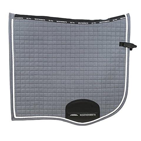 Weatherbeeta Prolux Dressage Full Size Saddle Pad - Charcoal/White