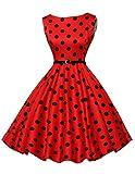Damen rockabilly kleid hepburn stil festliches kleid geburtstag kleid ballkleider knielang Größe 2XL CL6086-7