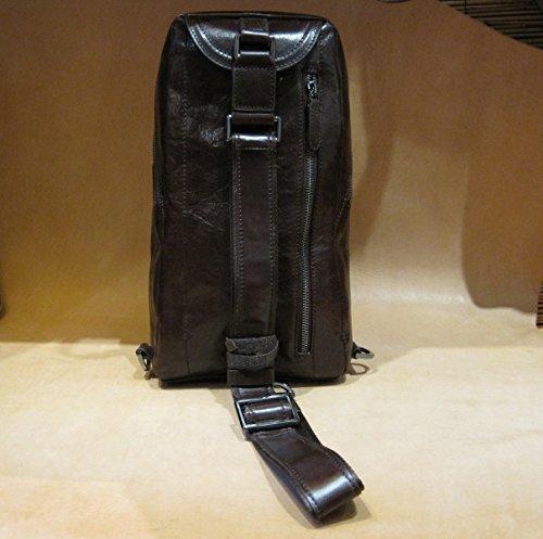 Francesco Lionetti - Borsa cuoio uomo sling bag - Made in Italy (Moro) Moro