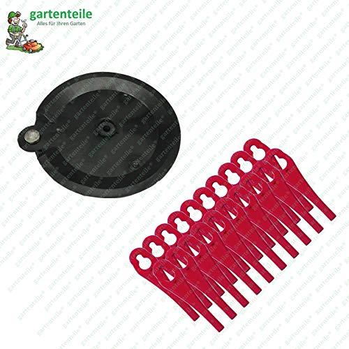 20 Kunststoffmesser mit Schneidscheibe, Messerset passend für Florabest Akku Rasentrimmer FAT 18 B3 - LIDL IAN 273039