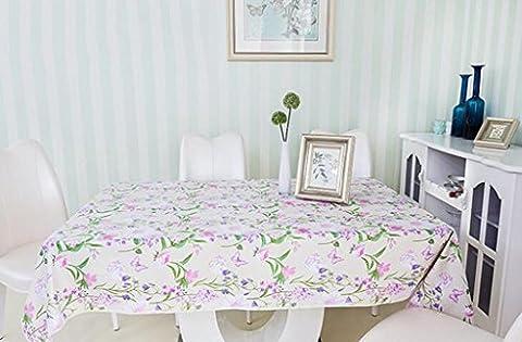 MNII Proof Tischdecke Striped Rectangular Oblong Polyester Wasserdichte Spill für Restaurant Küche Dining Party , 140*140cm- Bequem und sauber