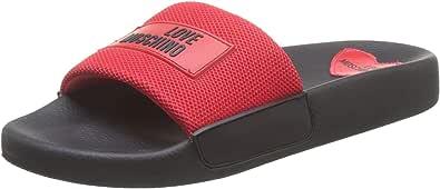 Love Moschino Sabotd.pool25 Rete, Pantofole Aperte sul Retro Donna