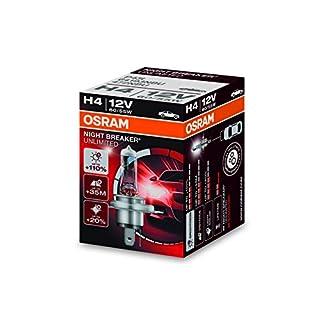Osram NIGHT BREAKER UNLIMITED H4, Halogen-Scheinwerferlampe, 64193NBU, 12V PKW, Faltschachtel (1 Stück)