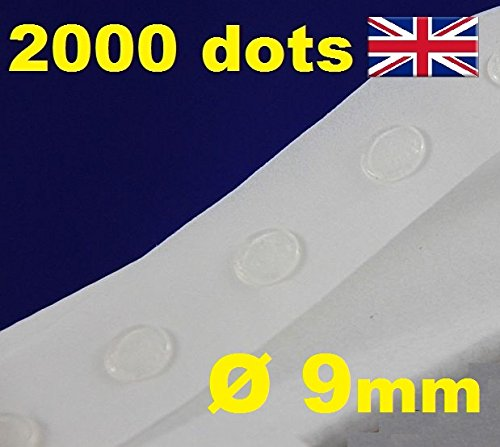 2000 Glue Dots Sticky Craft transparent Karte machen Scrap abnehmbarer 9 mm Glu Punkte Low/Easy Tack -