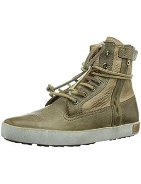 Blackstone IK03 GREY SHEEPSKIN Unisex-Kinder Chukka Boots