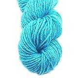 Luxe acrylique de laine à tricoter Fils à Écharpe main Pull Yarn Avec Gold Line-Blue
