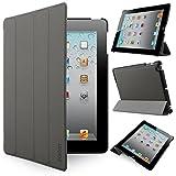 iHarbort® Apple iPad 4/ 3/ 2 coque étui Case - Ultra Slim Léger Smart Cover Case étui en cuir housse pour Apple iPad 4 iPad 3 iPad 2, avec le sommeil / réveil fonction (Gris)...