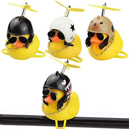 AFASOES 4Pcs Timbre de Bicicleta de Pato, Timbre Bicicletas Infantil, Duck Bicycle Bell, Mini Duck Head...