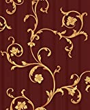 Vinyltapete Tapete Barock Retro # rot/gold # Fujia Decoration # 22522