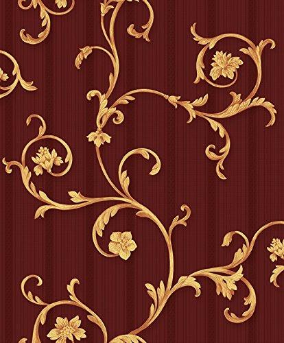 vinyl-tapete-barock-retro-rot-gold-fujia-decoration-22522