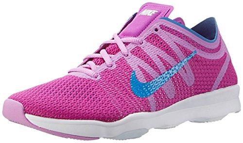 Nike Damen Wmns Air Zoom Fit 2 Gymnastikschuhe, Blau, 16 EU Blau (Hypr Vlt / Pht Bl-Fchs Glw-White)