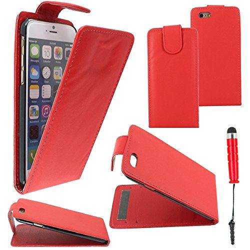 """ebestStar - pour Apple iPhone 6S 6 Plus écran 5,5"""" - Housse Coque Etui Flip Simili Cuir à Rabat vertical + Mini Stylet tactile, Couleur Violet [Dimensions PRECISES de votre appareil : 158.1 x 77.8 x 7 Rouge"""