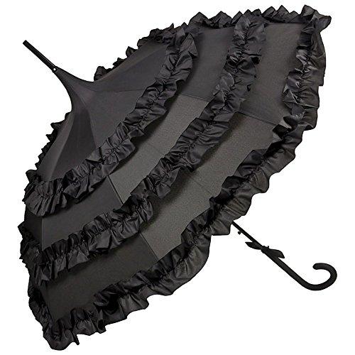 Von lilienfeld® ombrello automatico donna elegante pagoda lilly nero