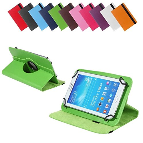 BRALEXX Universal 360° Tablet Tasche passend für Allview Viva H7 Extreme, 7 Zoll, Grün
