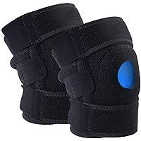 GSS-Rodillera Sports Almohadillas de Rodilla Compresión Transpirable Doble Spring Support Baloncesto Running Alpinismo Equipo de protección Leggings Transpirables
