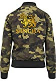 Singha Beer Bomber Chaquet Girls Camuflaje Certified Freak-M