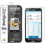"""iBroz® - ASUS ZenFone GO 5.5"""" (ZB552KL) - Protection Ecran en Verre Trempé iGUARD Premium Anti Chocs et Casse, Anti Empreintes Digitales et Gras, Bords Arrondis, Dureté Max 9H, Haute Définition 99%, pour ZenFone GO 5.5"""" (ZB552KL & ZB551KL) (Transparent)"""