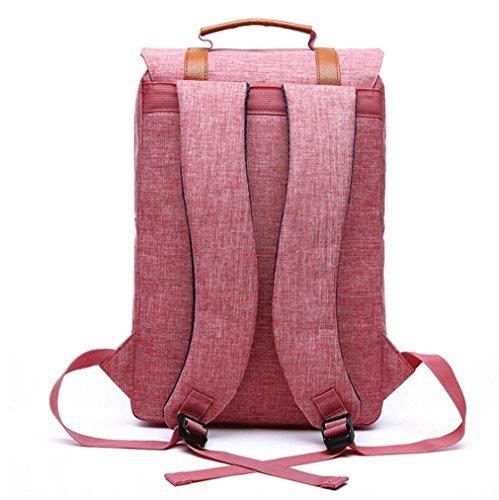 F@2016 neue Umhängetasche Männer und Frauen Rucksack, Schüler Rucksack, Laptop-Tasche watermelon red