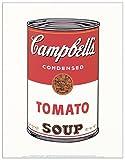 Artopweb Pannelli Decorativi Warhol Campbell's Soup 1968 Quadro, Legno, Carta, Vernice, Multicolore, 28x1.8x35 cm