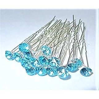 Hohe Qualität Elegant Aqua Sea Grün Ohrstecker Crystal Diamante Hochzeit Haarschmuck Pins-40Pins von Trendz