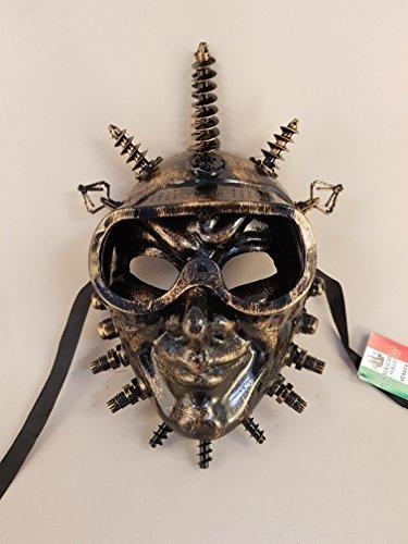 Venezianische Maske Joker SteamPunk, Karnevalsmaske (oro)