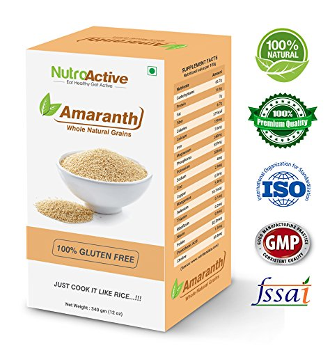 NutroActive amaranth Whole Natural Grains (Rajgira), Gluten Free 340 gm  available at amazon for Rs.164