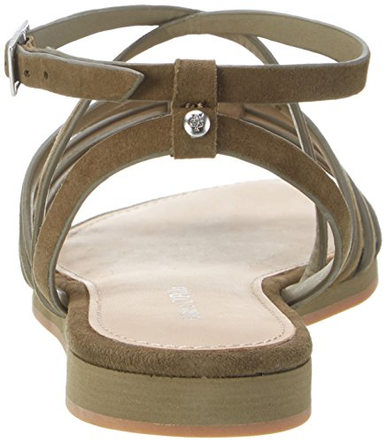 Marc O'Polo 70313981101302 Sandal, Spartiates femme Vert olive