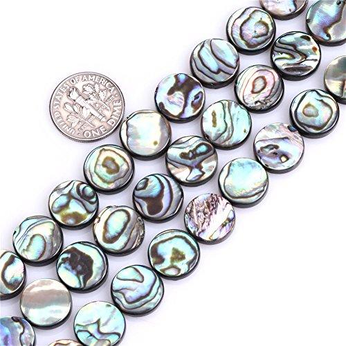 Sweet & Happy Girl'S Store 12mm M¨¹nze Nat¨¹rliche Abalone Muschel Perlen Strang 15 Zoll