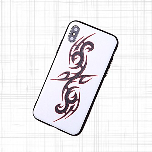 [caserbay] iPhone X Handy Fall Relief Textur Gemälde Moderate-Hard Slim Handy-Cover, Tattoo, Motorrad, Auto, Eule, Blume Serie, for iPhone X (5.8