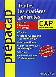Toutes les matières générales CAP Tertiaires et Industriels Nouveaux programmes