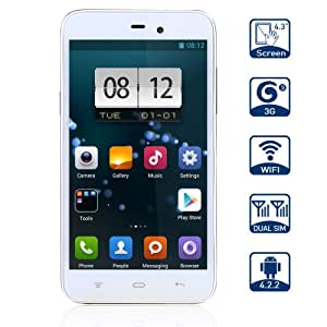 KingSing K2 Smartphone White Android 4.2.2 MTK6572 1.3GHz 4.3 Inch Capacitive Screen Dual SIM Dual Camera Unlocked