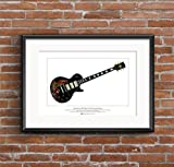 George Morgan Illustration Keith Richards' Gibson Les Paul Black Beauty Ltd Edition Fine Art Print A3 Größe