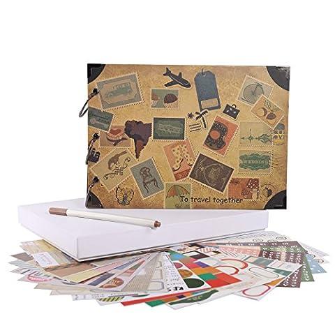Facraft Travel Album de scrapbooking 26,7x 19,1cm vintage DIY Album