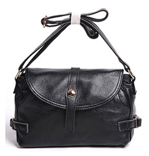 Keshi Leder Niedlich Damen Handtaschen, Hobo-Bags, Schultertaschen, Beutel, Beuteltaschen, Trend-Bags, Velours, Veloursleder, Wildleder, Tasche Schwarz