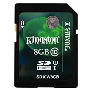 Kingston 8GB Class 10 SD SDHC Memory Card For GoPro HD HERO Naked Camcorder