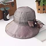 TFFBO Primavera e l'estate nuova protezione solare della ragazza cappello protezione solare SUNCAP TFFBO (Color : Violet)