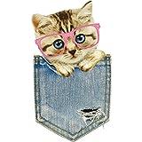 Tasche Katze patterhergon Lovely Animal Patches für Kinder Kleidet 's DIY Aufkleber