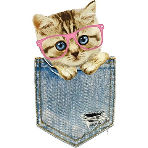 Yanhonin Patch modelo bolsa gato repassant des pegatinas