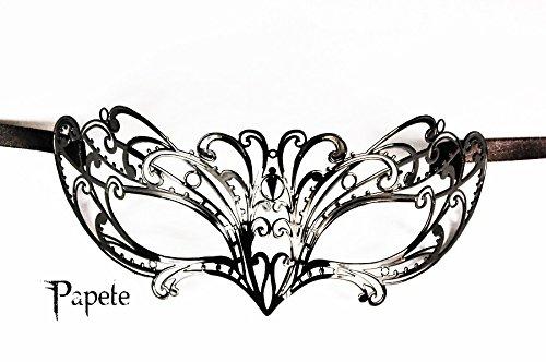 Maschera veneziana elegante, stile gotico, Lupo Papete