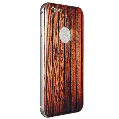 ImprimŽ Cadre en bois Motif en mŽtal Hard Case PC Retour Shell Couverture Pour Apple iPhone 6 4.7 pouces no.7