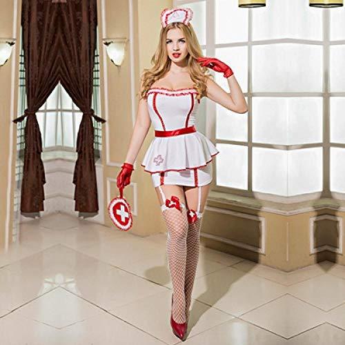 xbowo-Appeal Erotische Dessous Cosplay Krankenschwester Erotische Kostüme Für Rollenspiele Freche Sexy Frauen Anzug Krankenschwester Uniform Outfit Amphibienkleid Für Sex @ Color One Size